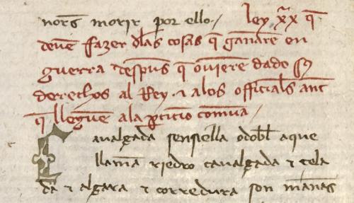 Letra de recuerdo «c» (margen izquierdo), inicial «C», fol. 168r2